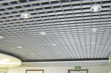 Grid False Ceiling Materials Open Cell Rectangle Metal Grid Ceiling Lightweight For