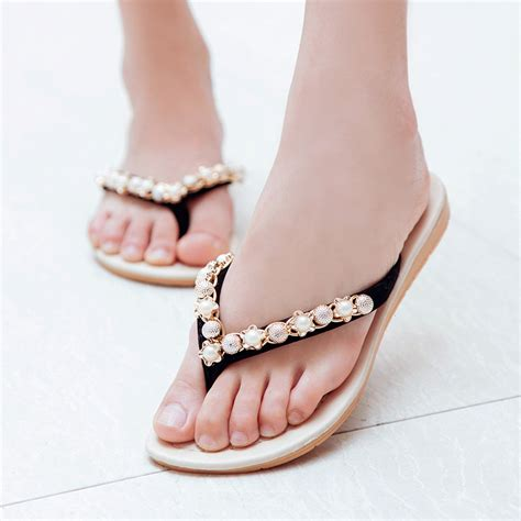 beading flip flops summer shoes sandals 2015