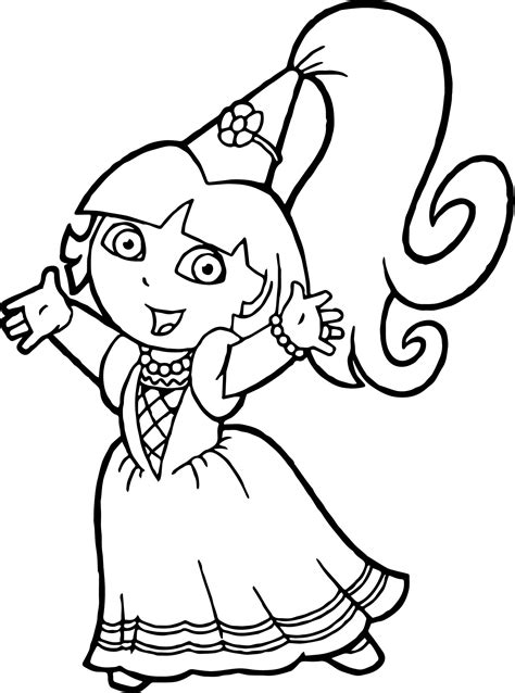 dora mermaid pages coloring pages