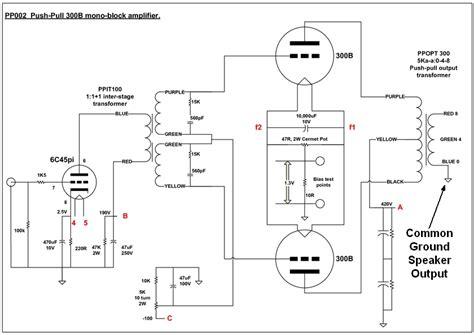 balanced output transformer wiring diagram output
