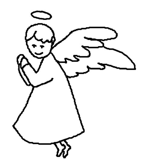 angel outline coloring page outlines of angels clipart best