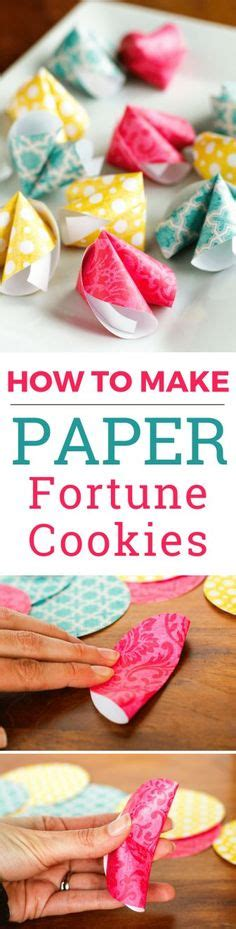 How To Make Paper Fortune Cookies - diy new year fan for ones could add