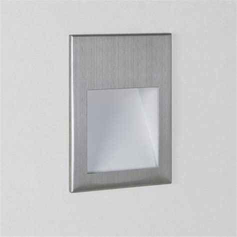 Recessed Wall Lights Astro Lighting Borgo 90 0975 Brushed Stainless Steel