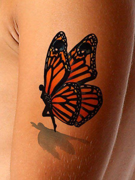 half butterfly tattoo designs 3d flower and butterfly on shoulder