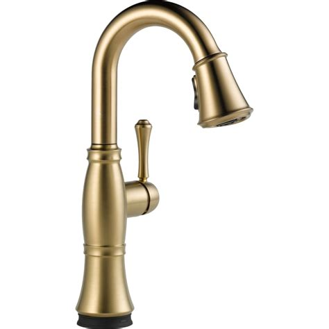 Pull Down Kitchen Faucet Reviews Delta Faucet 9997t Cz Dst Cassidy Champagne Bronze Pullout