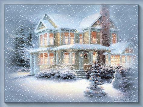 Thomas Kinkade Lamp by Christmas Images Christmas Scene Animated Wallpaper And