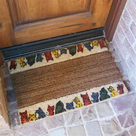Decorative Coir Door Mats Quot Cat Quot Coir Decorative Door Mat