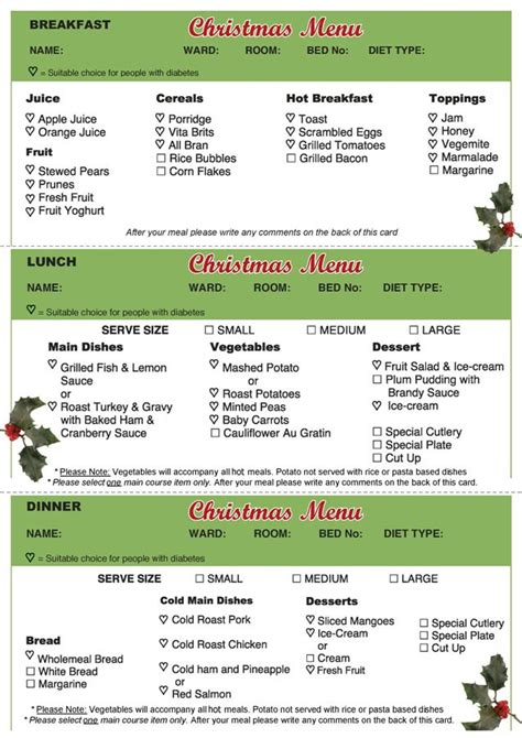 List Of Synonyms And Antonyms Of The Word Hospital Patient Menus Hospital Patient Menu Template