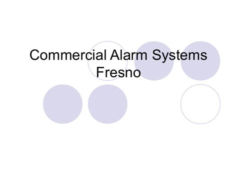 commercial alarm systems fresno