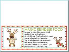 Magic reindeer food recipe and printable treat bag toppers the girl