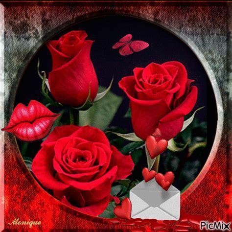 imagenes de flores para enviar por whatsapp gif animados de amor con rosas rojas y corazones