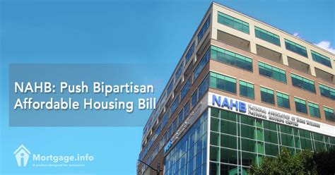 Affordable Housing Act by Nahb Push Bipartisan Affordable Housing Bill Mortgage Info