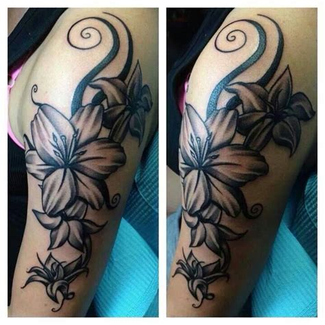 Awesome Black And White Flower Tattoo Tattoo S Black And White Flower Tattoos For 2
