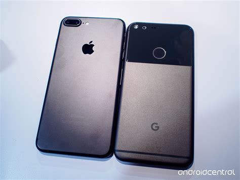 comparison google pixel xl  iphone   android central