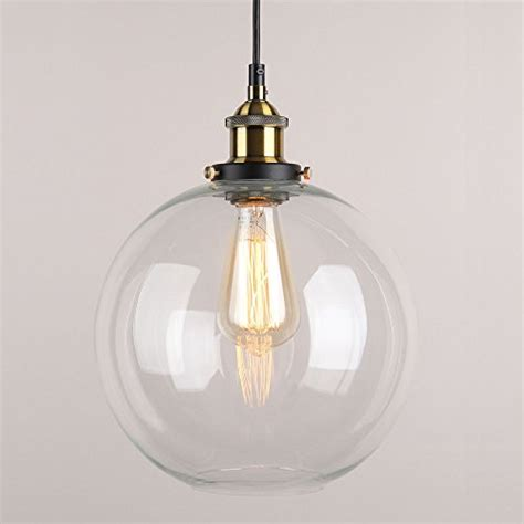 glass pendant lighting for kitchen winsoon 10 x 11 inch rround vintage industrial ceiling l clear glass pendant lighting for