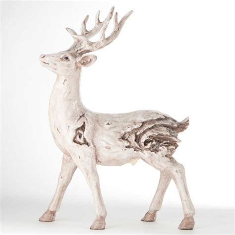 deer decor for home white wash deer reindeer standing holiday christmas home
