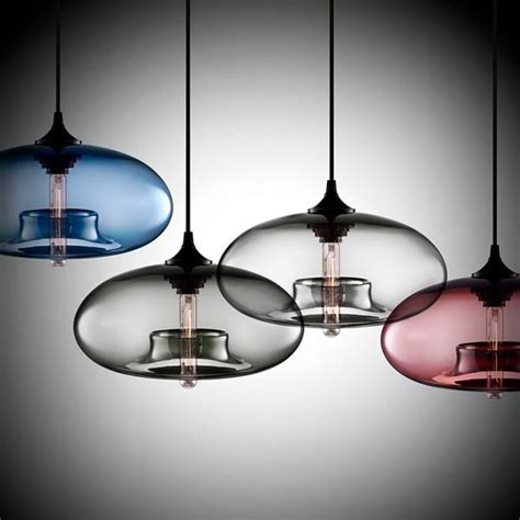 modern creative diy colorful glass pendant light