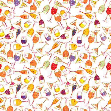 background clipart seamless background with cocktails and beverages vector