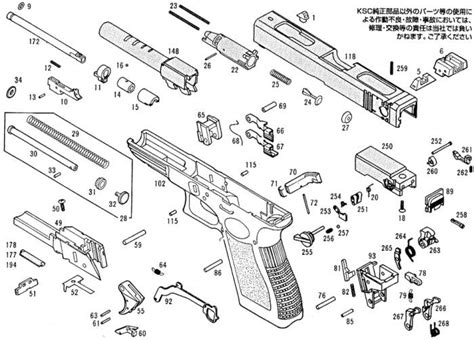 glock exploded diagram 6 best images of glock 22 nomenclature diagram printable