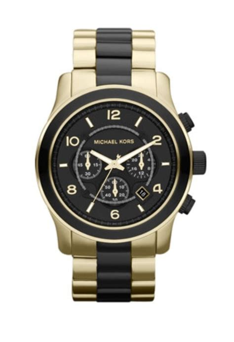 michael kors black and gold s wish list
