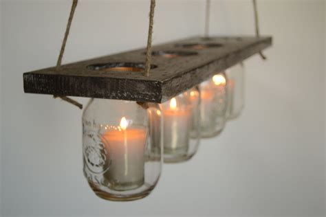 adorable above kitchen sink lighting ideas using candle diy indoor rustic hanging mason jar candle holders
