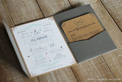 Diy Wedding Invitations Templates diy wedding invitations part 1 upcycled treasures