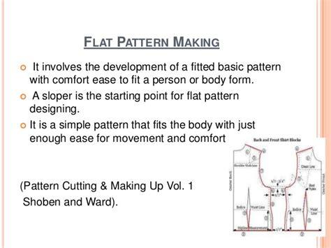 pattern making methods flat pattern