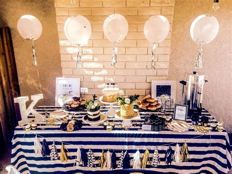 Black And Blue Baby Shower by Black White Gold Baby Shower Sweet Lou