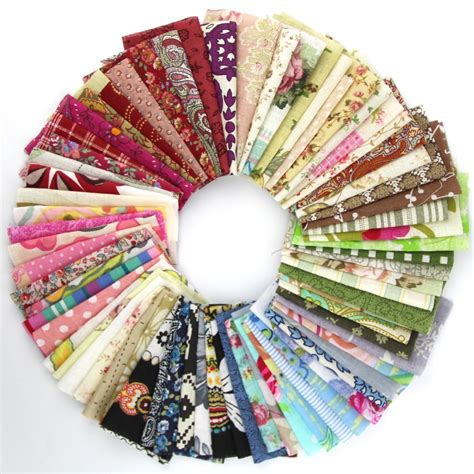 Patchwork Fabric Packs - 50pieces random color 10cm 10cm remnant cloth fabric