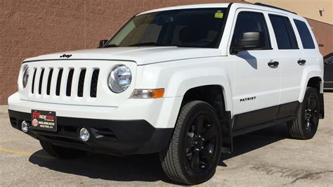 white jeep patriot with white rims 2015 jeep patriot altitude 4wd black alloy wheels
