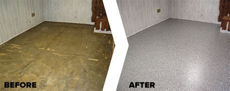 Garage Store   Basement Floor Epoxy Coating Repair