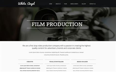 Videographer Responsive Website Template 47548 Best Website Templates For Videographers