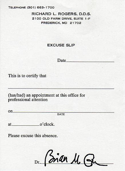dentist note for school template best photos of doctors excuse for school doctors excuse note template work school excuse