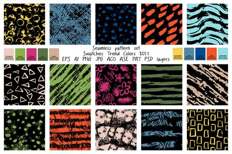 design pattern trends 2017 seamless pattern color trends 2017 by a design bundles