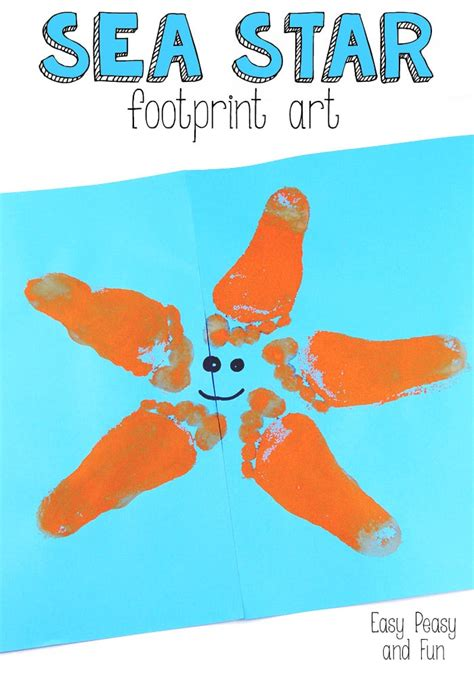 and footprint crafts starfish footprint easy peasy and