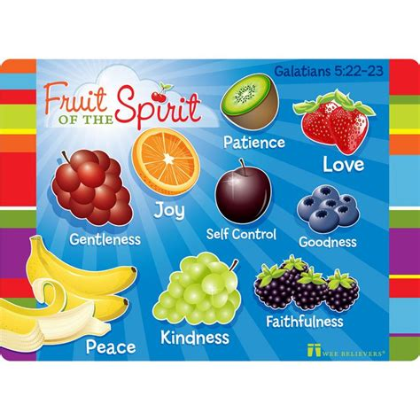 9 fruit of the spirit fruit of the spirit faith mat is a wipeable 18x13
