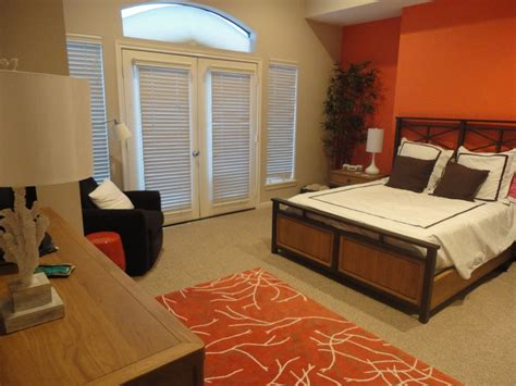 our bedroom coral brown and white master bedroom