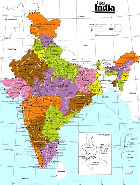 India On The Map by India Maps