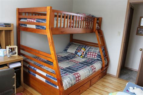 plans  build full twin bunk bed plans   full