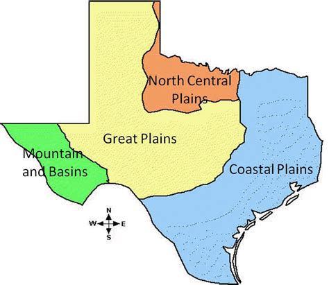 texas four regions map map four regions of texas pictures to pin on pinsdaddy
