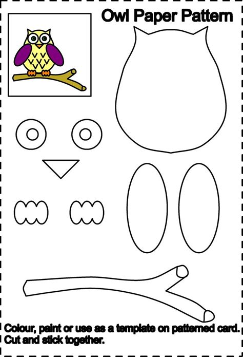 owl paper craft template pin by bevard on cards