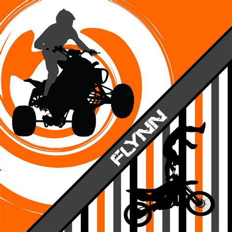motocross and atv atv bedding with motocross in orange with stripes 154