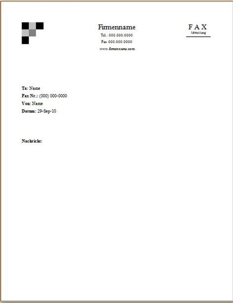 Offizieller Brief Word Word Faxvorlagen Zum Herunterladen