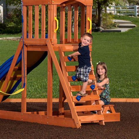 Backyard Discovery 2 N 1 Safety Swing Providence Wooden Swing Set