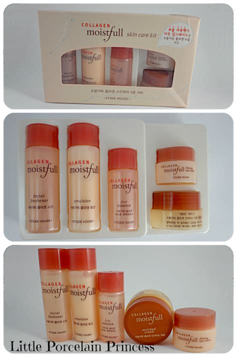 Collagen Moistfull Skincare Kit Etude House porcelain princess review etude house collagen moistfull skin care kit
