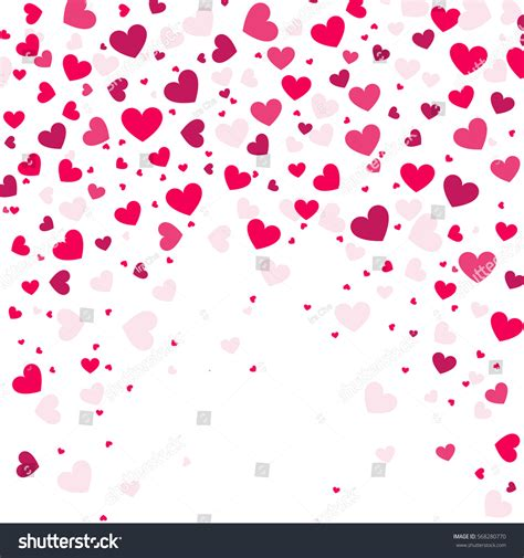 valentines day card design hearts vector stock vector colorful background heart confetti valentines day stock