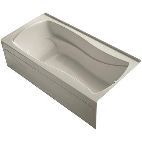 6 ft tub kohler mariposa 6 ft right drain soaking tub in sandbar k