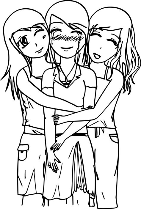 friendship coloring pages friends forever pages coloring pages