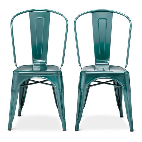 Metal Chairs Dining Carlisle High Back Metal Dining Chair With Wood Seat Metal Set Of 2 Ebay