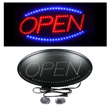 Led Sign Open new 23x13 in oval neon open sign business bright led open sign wow opnsi as low as 27 95